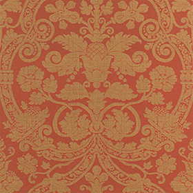 Thibaut Fortune Damask Red T1737