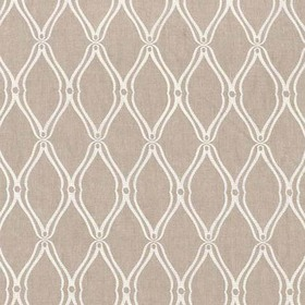 Thibaut Frankfurt Embroidery Natural Linen W74107