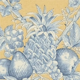 Thibaut Fruit Bouquet Blue-Gold T7327