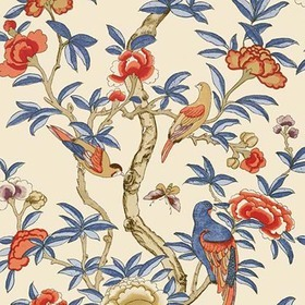Thibaut Giselle Blue and Coral T14228