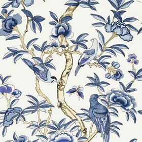 Thibaut Giselle Blue and White T14224