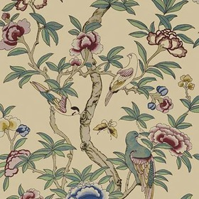 Thibaut Giselle Plum on Natural T14229