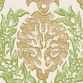 Thibaut Haleema Green and Beige F97933