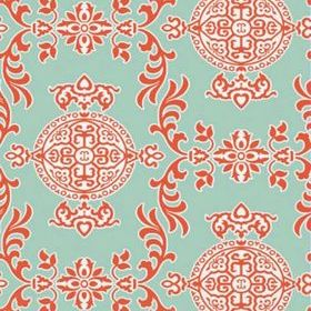 Thibaut Halie Aqua and Coral T36113