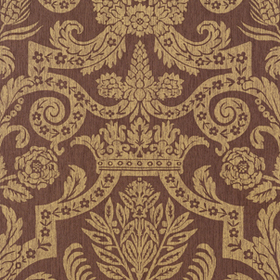 Thibaut Harvard Damask Metallic on Brown 839T6026
