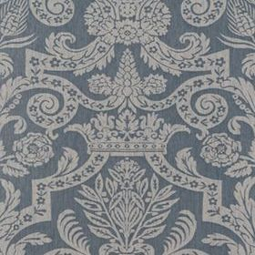 Thibaut Harvard Damask Pearl on Slate Blue 839T6029