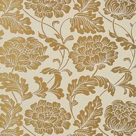 Thibaut Hathaway Metallic Gold on Linen T10077