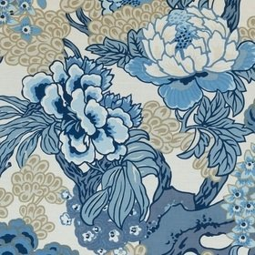 Thibaut Honshu Blue and Beige F975487