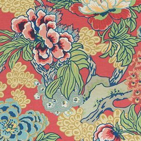Thibaut Honshu Coral and Green F975490