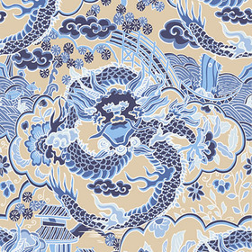 Thibaut Imperial Dragon Blue and Tan T14236