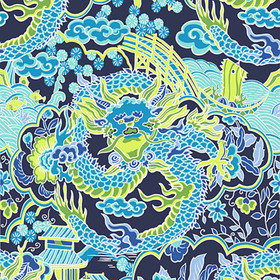 Thibaut Imperial Dragon Navy and Green T14235