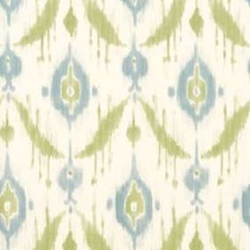 Thibaut Island Ikat Aqua and Green T9170