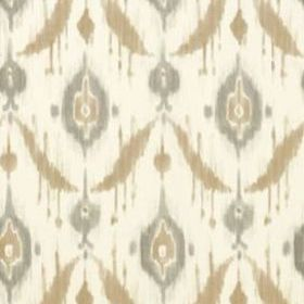 Thibaut Island Ikat Beige and Grey T9167