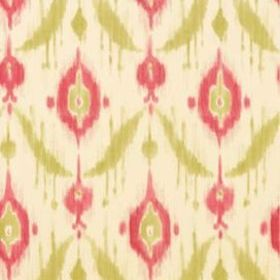 Thibaut Island Ikat Pink and Green T9168