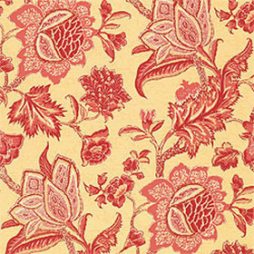 Thibaut Jacobean Trail Red On Gold T3311