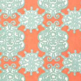 Thibaut Jakarta Coral and Turquoise F98612