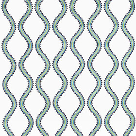 Thibaut Juniper Ogee Embroidery Blue and Green W764105
