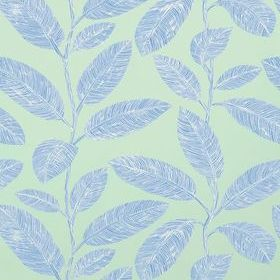 Thibaut Komodo Leaves Black and Flax T5712