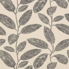 Thibaut Komodo Leaves Black and Flax T5714