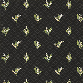 Thibaut Lily of the Valley Black T5108
