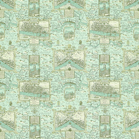 Thibaut London Map Aqua F96009