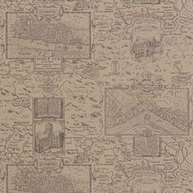 Thibaut London Map Linen 839T6011