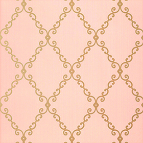 Thibaut London Trellis Metallic on Pink T4740