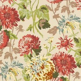Thibaut Longwood Cranberry on Linen T4128
