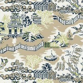 Thibaut Luzon Navy on Beige T36110