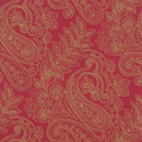 Thibaut Norwich Paisley Green and Pink T9290