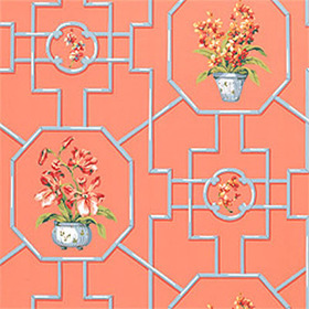 Thibaut Orchid Coral T3128