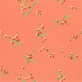 Thibaut Orchid Trail Coral T3139