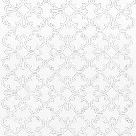 Thibaut Park Slope Embroidery White W764118