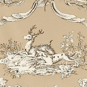 Thibaut Paysannerie Toile Black-Taupe T7371