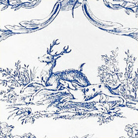Thibaut Paysannerie Toile Blue-White T7373