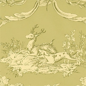 Thibaut Paysannerie Toile Green T7365