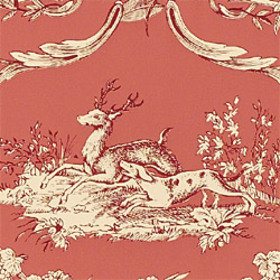 Thibaut Paysannerie Toile Raspberry T7367