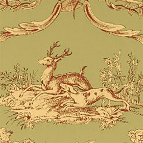 Thibaut Paysannerie Toile Red-Green T7366
