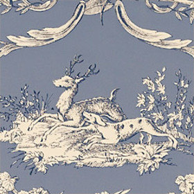 Thibaut Paysannerie Toile Wedgewood Blue T7376