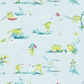 Thibaut Resort Frogs Blue T16064