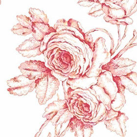 Thibaut Samantha's Bouquet Red-Cream T7323