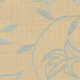 Thibaut Shalimar Embroidery Aqua on Natural W88017