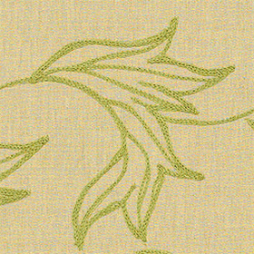 Thibaut Shalimar Embroidery Green on Natural W88021