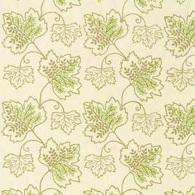 Thibaut Sherwood Embroidery Beige and Green W99201