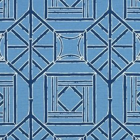 Thibaut Shoji Panel Blue and Navy F975522