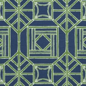 Thibaut Shoji Panel Navy and Green F975521