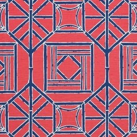 Thibaut Shoji Panel Red and Blue F975518