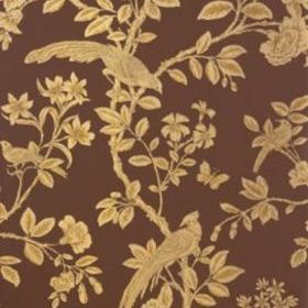 Thibaut Soraya Metallic Gold on Dark Brown T8621