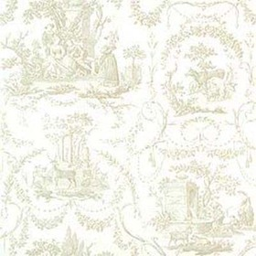 Thibaut Springfield Toile Beige on White T6902