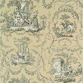 Thibaut Springfield Toile Black on Taupe T6969